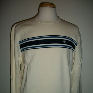 Dockers Milano Classic Fit Striped Sweater Ivory